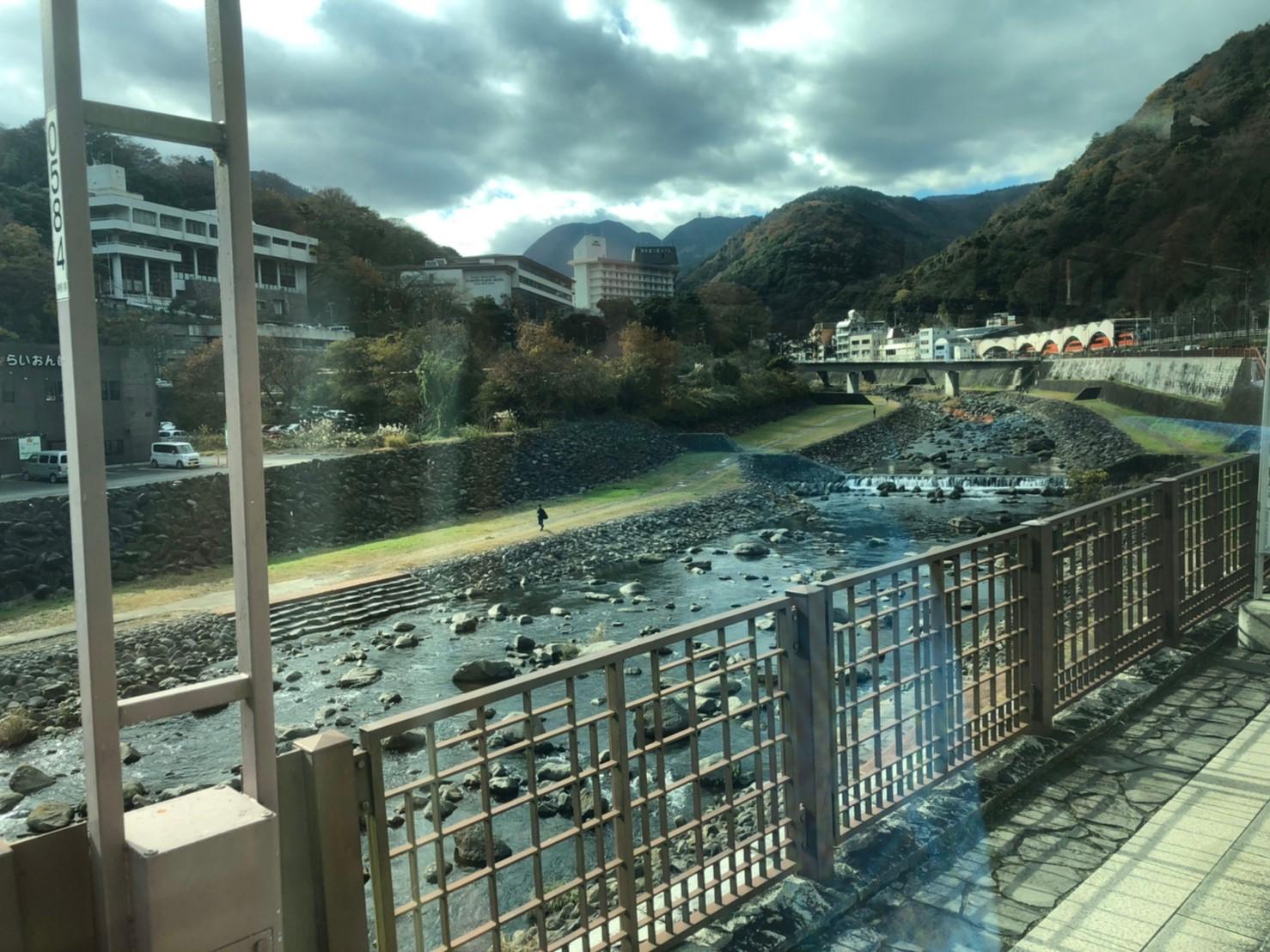 箱根旅行記 箱根湯本駅付近