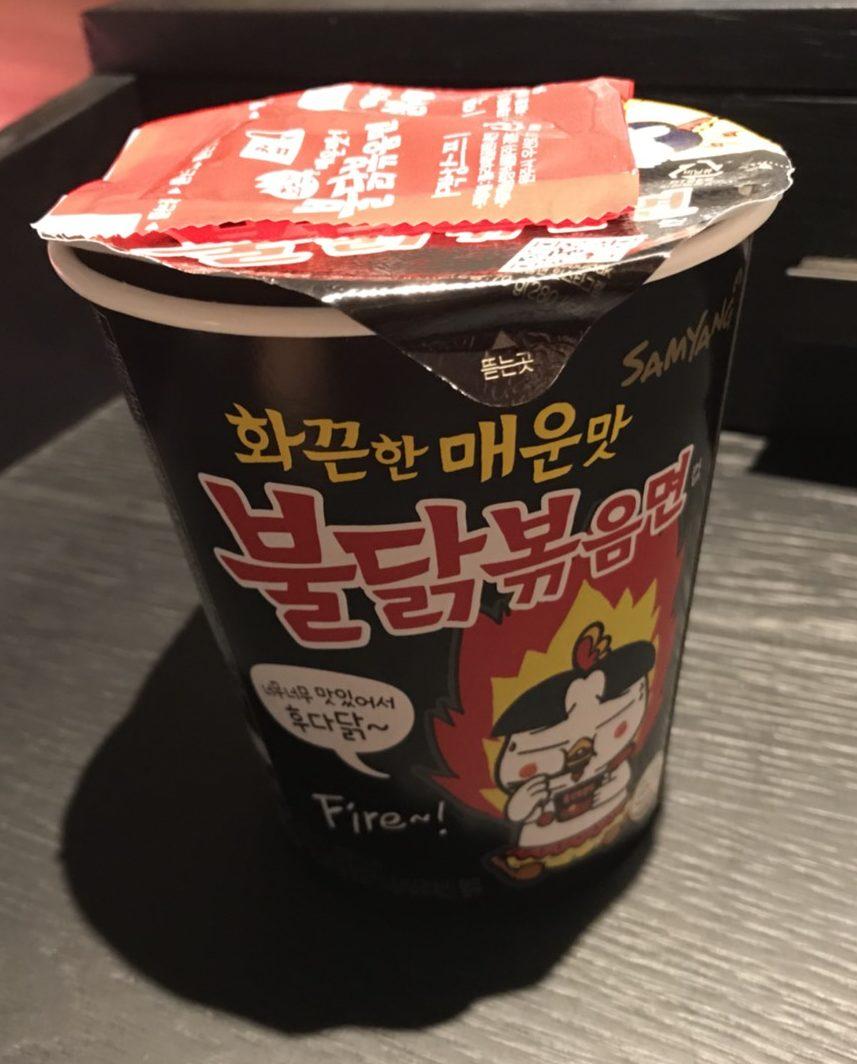 韓国旅行記 カップラーメン