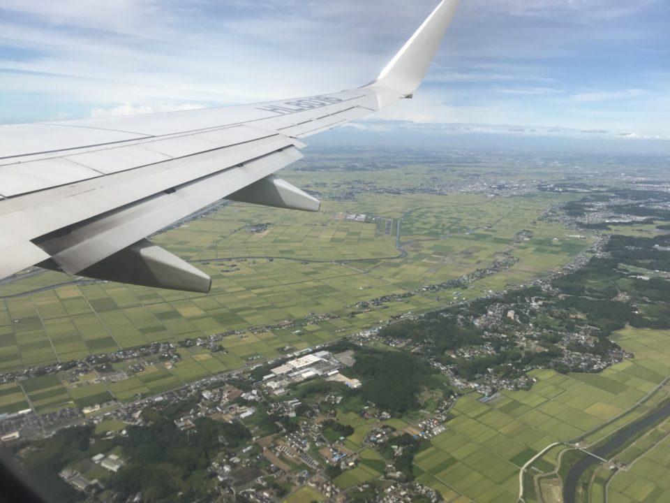 韓国旅行記 飛行機