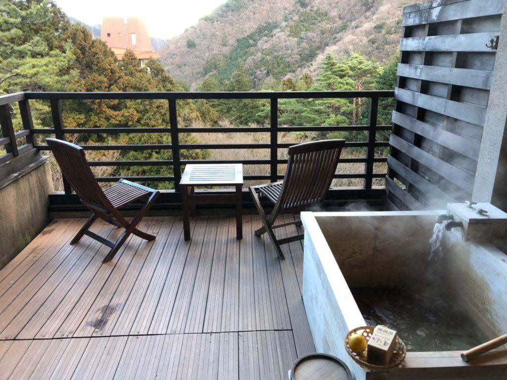 水の音 客室露天風呂