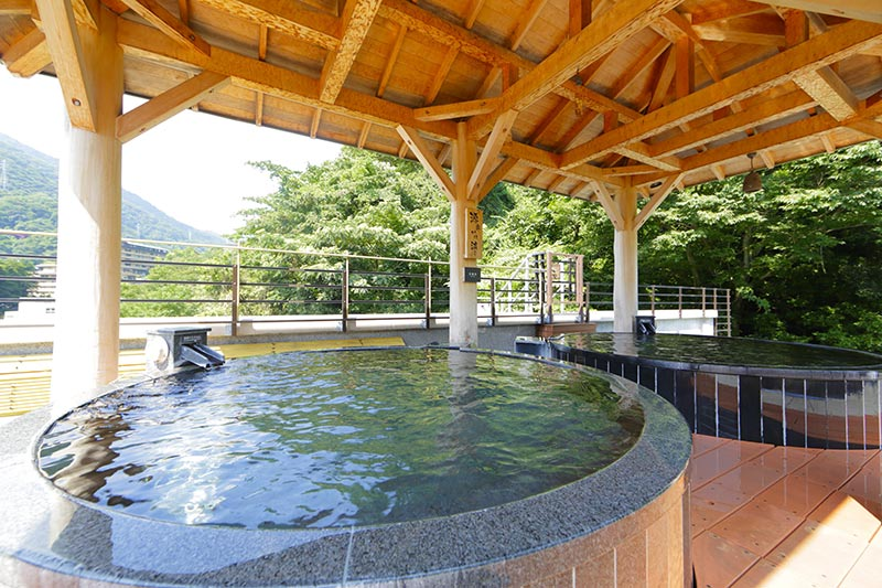 天成園の温泉(天空大露天風呂)を堪能♪