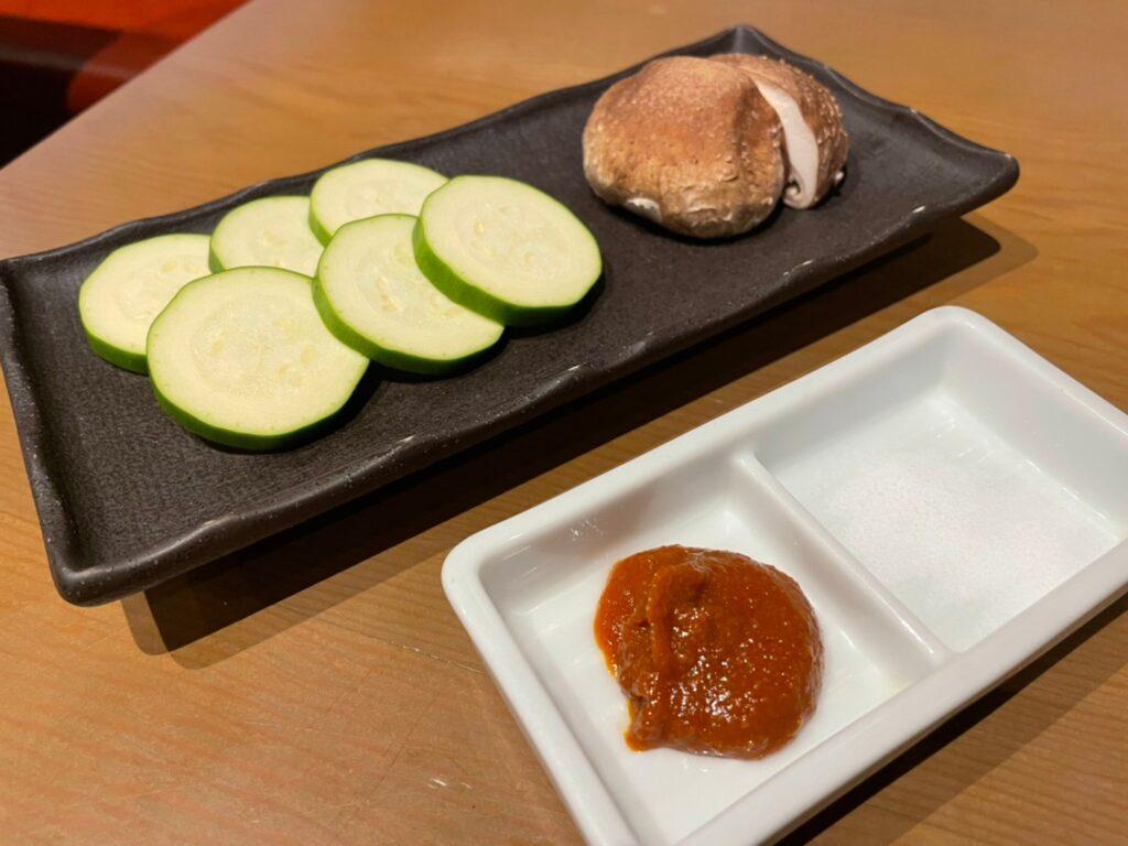 季節の野菜焼き